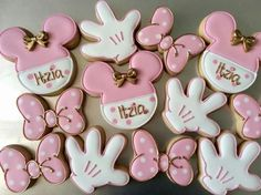 51 Ideas Birthday Cake Disney Mickey For 2019 Cupcakes Mickey, Minnie Mouse Cookies, Minnie Mouse Birthday Cakes, Disney Cookies, Minnie Mouse Theme, Minnie Mouse Baby Shower, Mickey Mouse Birthday, Birthday Cookies, Mini Mouse Cake