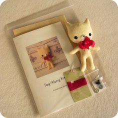 This little kit contains most of the items needed to create a sweet Tag-Along Kitten. ** DOES NOT INCLUDE FINISHED KITTEN **    You will receive: