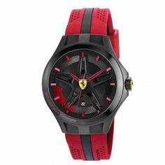 Scuderia Ferrari 'Lap Time' Silicone Strap Watch, available at Cool Watches, Watches For Men, Wrist Watches, Ferrari Watch, Sporty Watch, Timex Watches, Men's Watches, Gucci Watch, Hand Watch