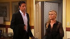 """Sami & EJ #Days #EJami Tuesday - 01/22/13 - Wasn't this just before they made out on her couch for a while...??  I LOVED the way he twirled her onto the couch from a standing position.  That EJ is so """"talented!"""""""