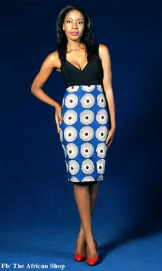 African High Waist Made Pencil Skirt. by THEAFRICANSHOP on Etsy, £35.00