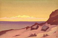 Nicholas Roerich   Frontier of Tibet. Tsaidam  1936