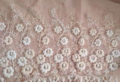 ANTIQUE Victorian Tambour Lace Fragment   ~ French Doll Dress~ Wedding ~Crafts in Antiques, Linens & Textiles (Pre-1930), Lace, Crochet & Doilies, Trim & Edging | eBay
