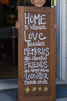 Great way to use old cabinet door - find an old tall door and lean it outside by the front door. put a cute saying on it.