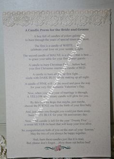 Wedding Candle Gift With Poem : Bridal Shower Poems on Pinterest Bridal Shower Gifts, Bridal Shower ...