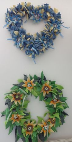 Rag Rug Wreath