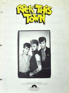 Stray-Cats-Rock-This-Town-Vtg-Sheet-Music-Guitar-Piano-Vocal-Brian-Setzer-1981