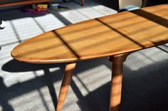 Mid-century coffee table refinished and restored