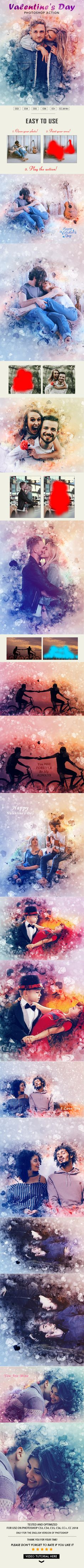 #Valentines Day #Photoshop #Action - Photo Effects Actions