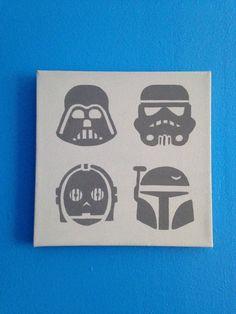 Star Wars Pop Art Painting by SimplyArtByStephyG on Etsy, $20.00