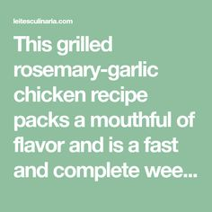 This grilled rosemary-garlic chicken recipe packs a mouthful of flavor and is a fast and complete weeknight dinner served over arugula.