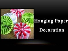 ▶ DIY - How to make a Hanging Paper Decoration - YouTube
