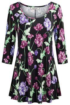 AmyDong Boyfriend Sleep Shirt Dress Button Down Cotton Nightgown Pajamas Dress Womens 3//4 Sleeve Striped T-Shirts