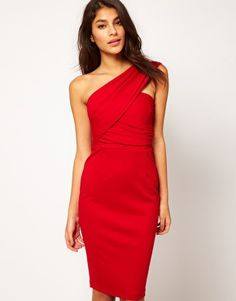 ASOS One Shoulder Pencil Dress