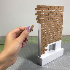 """2,848 Likes, 43 Comments – Cath (@thesquaretospare) on Instagram: """"Laying down the cork bricks…slow and steady I almost want to keep this unpainted because the…""""   -  #corkcraftsAnchor #corkcraftsBar #corkcraftsChristmas #corkcraftsDog #corkcraftsEasy #corkcraftsFlat #corkcraftsForKitchen #corkcraftsHome #corkcraftsReindeer #corkcraftsRubber #corkcraftsSpring #corkcraftsWedding Dollhouse Miniatures, Dollhouse Miniature Tutorials, Miniature Crafts, Diy Dollhouse, Miniature Houses, Miniature Dolls, Miniture Things, Doll Houses, Fairy Houses"""