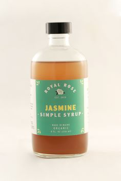 Image of Jasmine Syrup Maine, Food Suppliers, Simple Syrup, Cocktail Recipes, Herbalism, Alcohol, Organic, Rose, Cooking