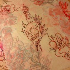 #tattoo #tattoos #tattooart #tradition #traditional #real_traditional #traditionaltattoos #real_traditional_tattoos #tattooworkers #oldlines #sndtattoos #stc #saketattoocrew #captainstc #tattoosofinstagram #tattoosandflash #flash #tattooflash #artoftheday #bright_and_bold