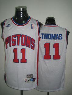 Detroit Pistons NBA White Isiah Thomas Soul Swingman Jersey a54e4a462