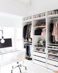 "4,873 Likes, 38 Comments - #LTKhome (@liketoknow.it.home) on Instagram: """"My ""cloffice"" (closet/office) is my happy place! This is where I create, style outfits to shoot…"""