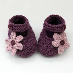 Hand Knitted Baby Shoes-Booties £4.75