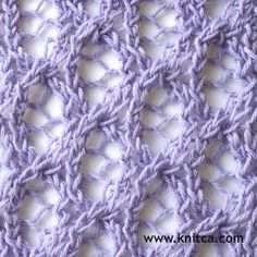 knitting stitch pattern – Lace