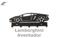 Wieszak na klucze / key rack - Lamborghini Aventador   Worldwide Shipping  #wieszak #Lamborghini #Aventador #klucze #design #dekoracja #pomysl #prezent #idea #car #auto #samochod #black #gift #poland #quality #key #gadzet #czarny #wall #hanger #rack