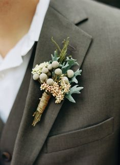 #boutonniere | Georgia Wedding at Fair Weather Farms from Ryan Bernal Photography  Read more - http://www.stylemepretty.com/georgia-weddings/2013/09/20/georgia-wedding-at-fair-weather-farms-from-ryan-bernal-photography/