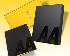 AA Ring Binder and Slipcase - a creative packaging solution produced by Cedar Packaging