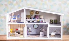 Diy For Kids, Crafts For Kids, Dollhouse Furniture, Diy And Crafts, Barbie, Bed, Home Decor, Childrens Rooms, Mini Houses