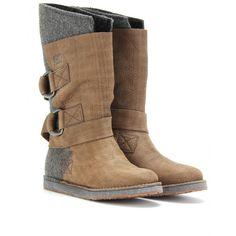 mytheresa.com - Sorel - CHIPAKO FELT AND LEATHER BOOTS - Luxury Fashion for  Women