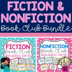 Fiction and Nonfiction Book Club Discussion Questions Book Club Books, New Books, Book Club Questions, Elementary Schools, Elementary Teacher, First Grade Activities, Math Lesson Plans, Fiction And Nonfiction, Book Study
