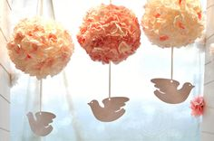 Wedding balls decoration flower Shabby chic Big par AnAngelStore