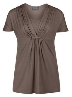 Breastfeed with confidence in this super cute gathered loop nursing top! www.milkandbaby.com