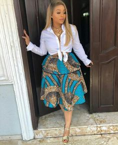 Short Layer Ankara Skirt You can not argue with fashionistas when they say Ankara styles will only get better and more creative, the trendy Ankara skirt styles listed in this post African Print Dresses, African Print Fashion, Africa Fashion, African Fashion Dresses, African Dress, Ankara Fashion, African Prints, African Outfits, African Jumpsuit