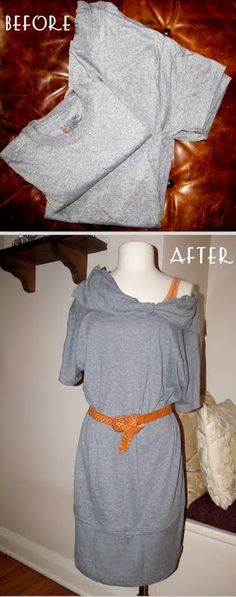 #27  Re-Style  some t -shirts to make a dress