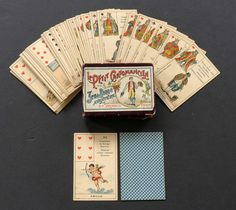 "Antique Vintage ""Petit Cartomancien"" Lenormand Fortune Telling Oracle Cards 1890"