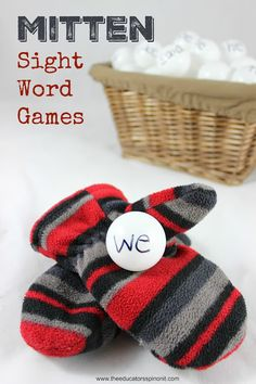 Warm-up your reading skills with these cute (and super easy to make) mitten sight word games for kids to learn their sight words. Great for ages Reading Games For Kids, Word Games For Kids, Kindergarten Reading Activities, Word Family Activities, Winter Activities For Kids, Preschool Themes, Literacy Activities, In Kindergarten, Reading Skills