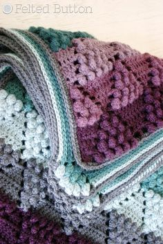 Vintage Vineyard Blanket crochet pattern by Susan Carlson of Felted Button Crochet Afghans, Crochet Borders, Afghan Crochet Patterns, Crochet Stitches, Stitch Patterns, Blanket Crochet, Vintage Crochet Patterns, Crochet Throws, Manta Crochet