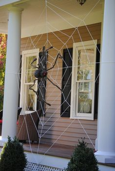 DIY Halloween Decorating Ideas • Ideas and tutorials, including this giant Halloween spider web by 'My Untangled Life'!