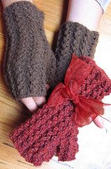 Like tracks along a trail, eyelets run the length of these fingerless gloves. The easy lace rib pattern fits a variety of hands and repeats over 4 stitches and 4 rounds. The patterning continues on the thumb gusset and thumb for a comfortable fit.