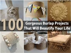 Burlap is a very popular material and one that gives you many craft possibilities. If you are looking to add a bit of rustic to your home or you simply like the look of burlap, there are so many things that you can make! We have collected a list of 100 easy DIY projects that you can...