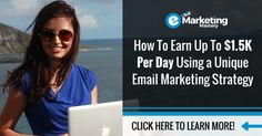 Discover the simple, yet effective email marketing tips and strategies that will position you for massive success in your online business.  The exact formula used to generate up to $1.5K per day with email marketing.