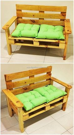 To have an arrangement of a stylish bench design in your house giving a look at this amazing wood pallet bench structure is the best idea Being shaped into moderate bench.