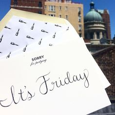 It's #finallyfriday and we're saying #cheers to the weekend with our @millybymichelle collection. #UES #rooftop #millymoment #stationery #newyorkcity