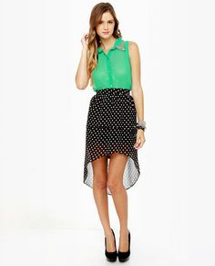 Element Eden Celina High-Low Polka Dot Skirt . Um, can I have this in my closet please? Thanks.