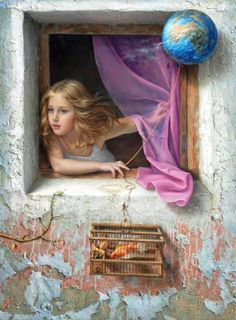 Surrealism and Visionary art: Alex Alemany Painting Digital, Art Visionnaire, Art Aquarelle, Scenery Paintings, Oil Paintings, Creation Photo, Spanish Artists, Spanish Painters, Wow Art