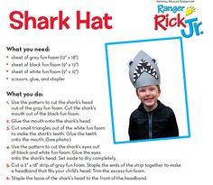 shark hat craft template - animal crafts on pinterest cardboard tubes paper plates