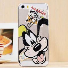 CASE IPHONE! Capa de Silicone Transparente para iPhone 5/5S Pluto