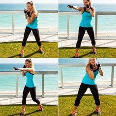 Look like tough stuff with this arm-sculpting double jab routine