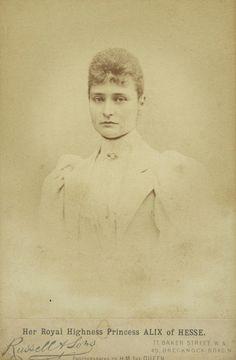 Princess Alix of Hesse, later Empress Alexandra Feodorovna